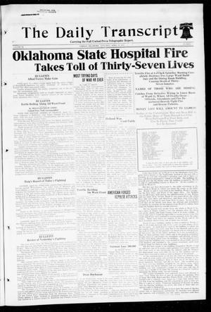 Primary view of object titled 'The Daily Transcript  (Norman, Okla.), Vol. 6, No. 37, Ed. 1 Saturday, April 13, 1918'.