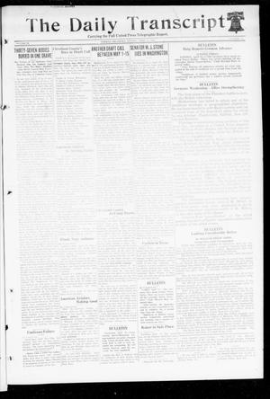 Primary view of object titled 'The Daily Transcript  (Norman, Okla.), Vol. 6, No. 38, Ed. 1 Monday, April 15, 1918'.