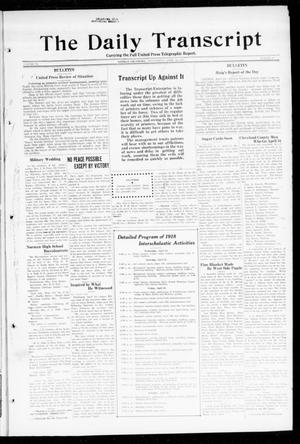 Primary view of object titled 'The Daily Transcript  (Norman, Okla.), Vol. 6, No. 27, Ed. 1 Wednesday, April 24, 1918'.
