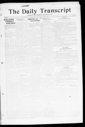Primary view of object titled 'The Daily Transcript  (Norman, Okla.), Vol. 6, No. 31, Ed. 1 Monday, April 29, 1918'.