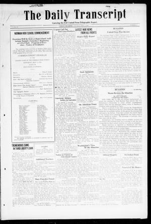Primary view of object titled 'The Daily Transcript  (Norman, Okla.), Vol. 6, No. 36, Ed. 1 Saturday, May 4, 1918'.