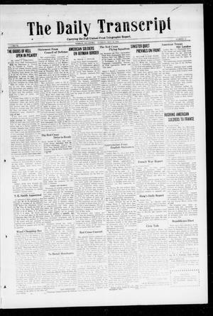 Primary view of object titled 'The Daily Transcript  (Norman, Okla.), Vol. 6, No. 43, Ed. 1 Tuesday, May 14, 1918'.