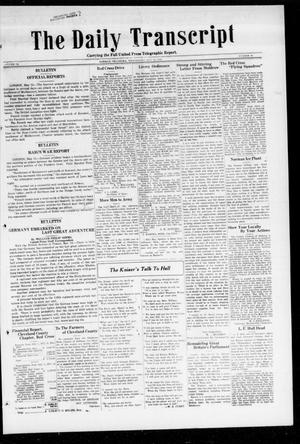 Primary view of object titled 'The Daily Transcript  (Norman, Okla.), Vol. 6, No. 44, Ed. 1 Wednesday, May 15, 1918'.