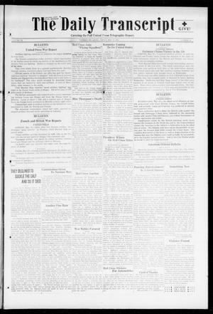 Primary view of object titled 'The Daily Transcript  (Norman, Okla.), Vol. 6, No. 46, Ed. 1 Friday, May 17, 1918'.