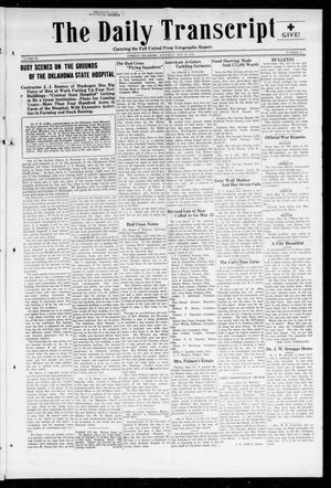 Primary view of object titled 'The Daily Transcript  (Norman, Okla.), Vol. 6, No. 47, Ed. 1 Saturday, May 18, 1918'.