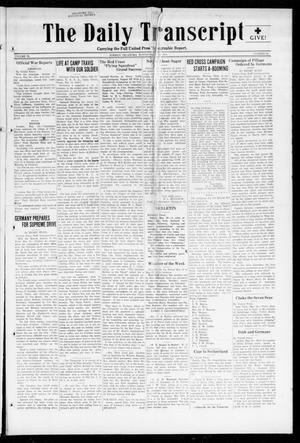 Primary view of object titled 'The Daily Transcript  (Norman, Okla.), Vol. 6, No. 48, Ed. 1 Monday, May 20, 1918'.