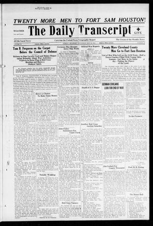 The Daily Transcript  (Norman, Okla.), Vol. 6, No. 50, Ed. 1 Wednesday, May 22, 1918