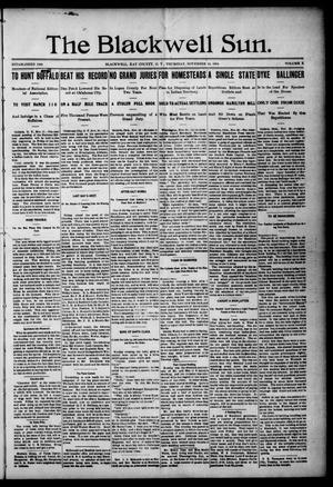 Primary view of The Blackwell Sun. (Blackwell, Okla. Terr.), Vol. 10, No. 24, Ed. 1 Thursday, November 24, 1904