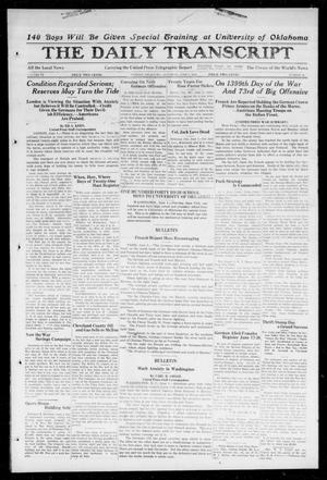 Primary view of object titled 'The Daily Transcript  (Norman, Okla.), Vol. 6, No. 59, Ed. 1 Saturday, June 1, 1918'.