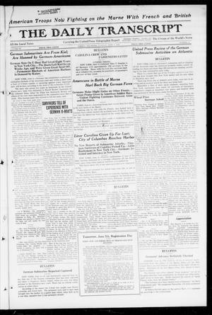 Primary view of object titled 'The Daily Transcript  (Norman, Okla.), Vol. 6, No. 61, Ed. 1 Tuesday, June 4, 1918'.