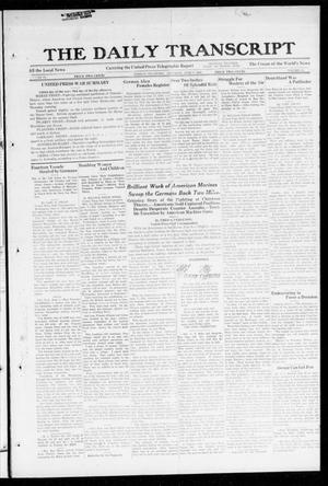 Primary view of object titled 'The Daily Transcript  (Norman, Okla.), Vol. 6, No. 64, Ed. 1 Friday, June 7, 1918'.