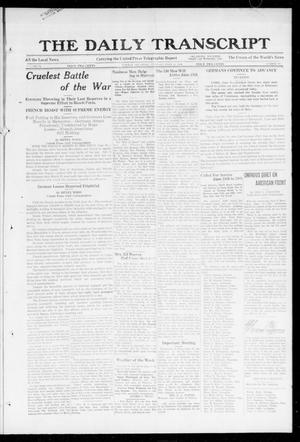 Primary view of object titled 'The Daily Transcript  (Norman, Okla.), Vol. 6, No. 67, Ed. 1 Tuesday, June 11, 1918'.