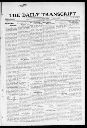 Primary view of object titled 'The Daily Transcript  (Norman, Okla.), Vol. 6, No. 71, Ed. 1 Saturday, June 15, 1918'.