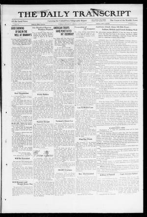 Primary view of object titled 'The Daily Transcript  (Norman, Okla.), Vol. 6, No. 72, Ed. 1 Monday, June 17, 1918'.