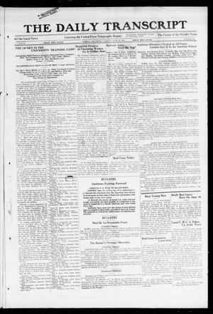 Primary view of object titled 'The Daily Transcript  (Norman, Okla.), Vol. 6, No. 73, Ed. 1 Tuesday, June 18, 1918'.