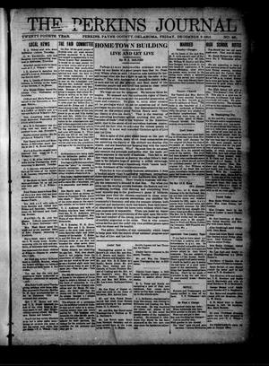 Primary view of The Perkins Journal (Perkins, Okla.), Vol. 24, No. 49, Ed. 1 Friday, December 3, 1915