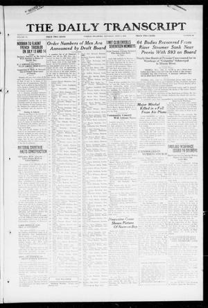 Primary view of object titled 'The Daily Transcript  (Norman, Okla.), Vol. 6, No. 88, Ed. 1 Saturday, July 6, 1918'.