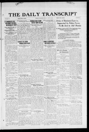 Primary view of object titled 'The Daily Transcript  (Norman, Okla.), Vol. 6, No. 89, Ed. 1 Monday, July 8, 1918'.