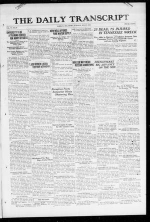 Primary view of object titled 'The Daily Transcript  (Norman, Okla.), Vol. 6, No. 90, Ed. 1 Tuesday, July 9, 1918'.