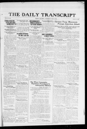 The Daily Transcript  (Norman, Okla.), Vol. 6, No. 91, Ed. 1 Wednesday, July 10, 1918