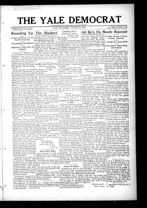 Primary view of object titled 'The Yale Democrat (Yale, Okla.), Vol. 11, No. 1, Ed. 1 Thursday, August 22, 1918'.