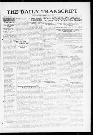 Primary view of object titled 'The Daily Transcript  (Norman, Okla.), Vol. 6, No. 104, Ed. 1 Thursday, July 25, 1918'.