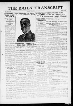 Primary view of object titled 'The Daily Transcript  (Norman, Okla.), Vol. 6, No. 115, Ed. 1 Wednesday, August 7, 1918'.