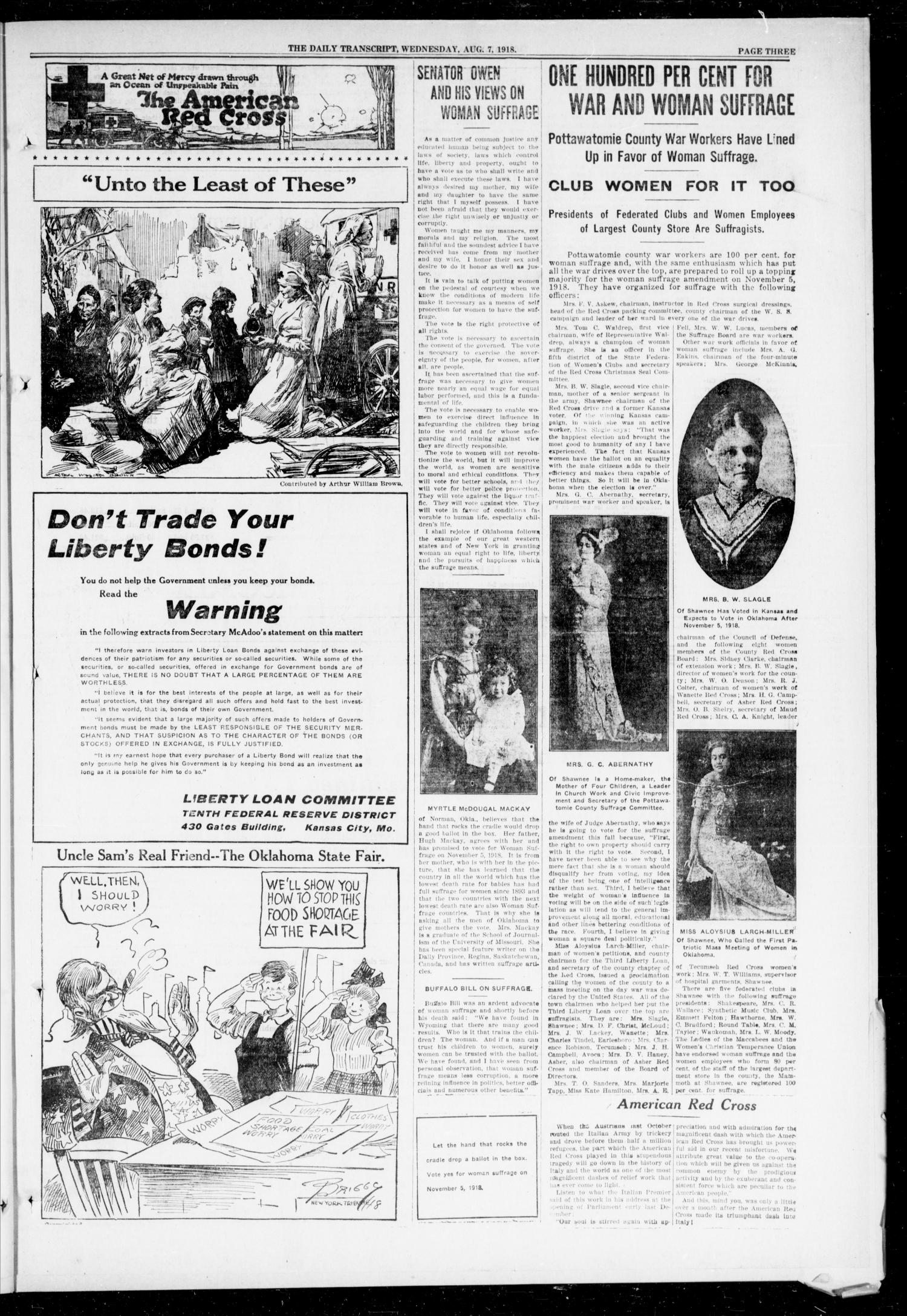 The Daily Transcript  (Norman, Okla.), Vol. 6, No. 115, Ed. 1 Wednesday, August 7, 1918                                                                                                      [Sequence #]: 3 of 4