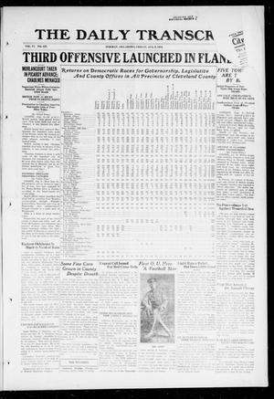 Primary view of object titled 'The Daily Transcript  (Norman, Okla.), Vol. 6, No. 117, Ed. 1 Friday, August 9, 1918'.