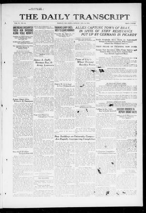The Daily Transcript  (Norman, Okla.), Vol. 6, No. 119, Ed. 1 Monday, August 12, 1918