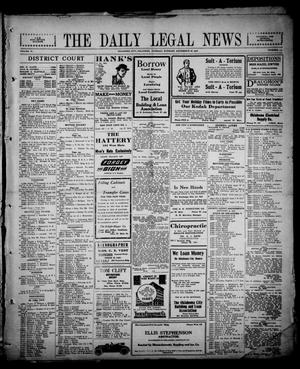 Primary view of object titled 'The Daily Legal News (Oklahoma City, Okla.), Vol. 13, No. 117, Ed. 1 Tuesday, December 26, 1916'.