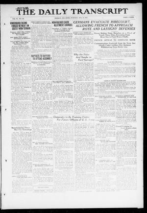 Primary view of object titled 'The Daily Transcript  (Norman, Okla.), Vol. 6, No. 120, Ed. 1 Tuesday, August 13, 1918'.