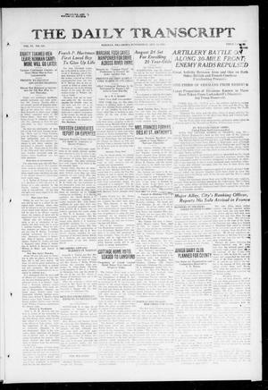 Primary view of object titled 'The Daily Transcript  (Norman, Okla.), Vol. 6, No. 121, Ed. 1 Wednesday, August 14, 1918'.