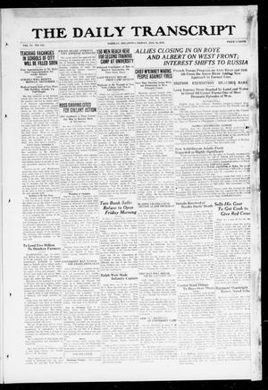 Primary view of object titled 'The Daily Transcript  (Norman, Okla.), Vol. 6, No. 123, Ed. 1 Friday, August 16, 1918'.