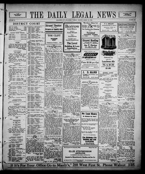 Primary view of The Daily Legal News (Oklahoma City, Okla.), Vol. 12, No. 301, Ed. 1 Tuesday, August 22, 1916