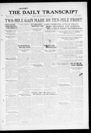 The Daily Transcript  (Norman, Okla.), Vol. 6, No. 126, Ed. 1 Tuesday, August 20, 1918