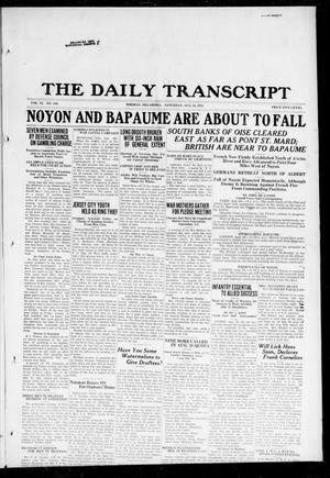 Primary view of object titled 'The Daily Transcript  (Norman, Okla.), Vol. 6, No. 130, Ed. 1 Saturday, August 24, 1918'.