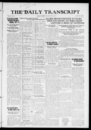 The Daily Transcript  (Norman, Okla.), Vol. 6, No. 151, Ed. 1 Thursday, September 19, 1918
