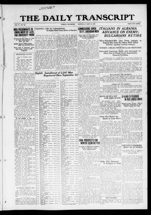 Primary view of object titled 'The Daily Transcript  (Norman, Okla.), Vol. 6, No. 156, Ed. 1 Wednesday, September 25, 1918'.