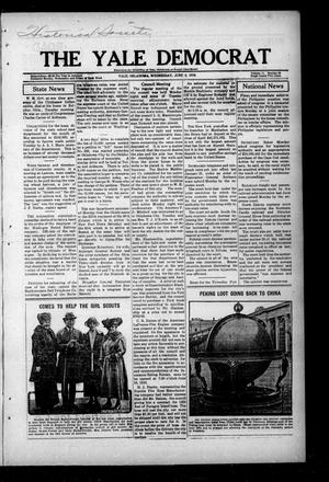 Primary view of object titled 'The Yale Democrat (Yale, Okla.), Vol. 11, No. 63, Ed. 1 Wednesday, June 4, 1919'.