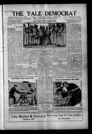 Primary view of object titled 'The Yale Democrat (Yale, Okla.), Vol. 13, No. 14, Ed. 1 Monday, September 27, 1920'.