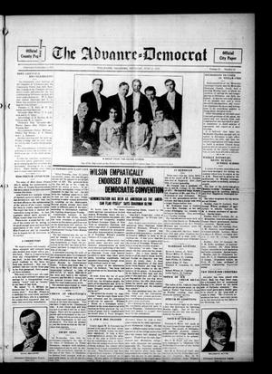 Primary view of object titled 'The Advance--Democrat (Stillwater, Okla.), Vol. 24, No. 42, Ed. 1 Thursday, June 15, 1916'.