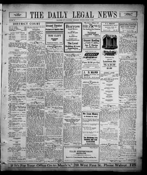 Primary view of object titled 'The Daily Legal News (Oklahoma City, Okla.), Vol. 12, No. 296, Ed. 1 Wednesday, August 16, 1916'.