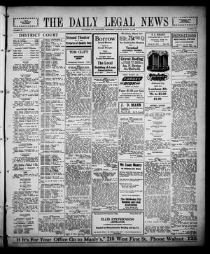 Primary view of object titled 'The Daily Legal News (Oklahoma City, Okla.), Vol. 12, No. 302, Ed. 1 Wednesday, August 23, 1916'.