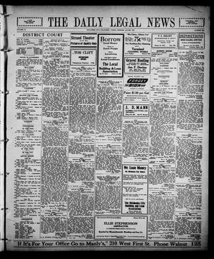 Primary view of object titled 'The Daily Legal News (Oklahoma City, Okla.), Vol. 12, No. 280, Ed. 1 Friday, July 28, 1916'.