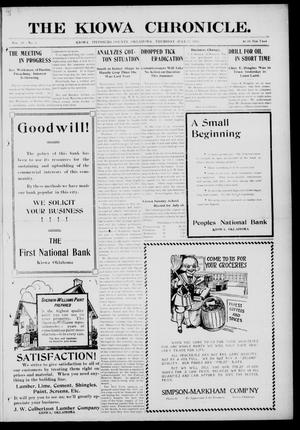 Primary view of The Kiowa Chronicle. (Kiowa, Okla.), Vol. 10, No. 8, Ed. 1 Thursday, July 22, 1915