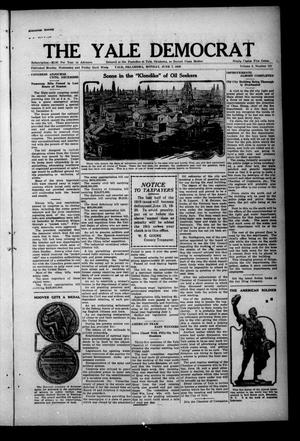 Primary view of object titled 'The Yale Democrat (Yale, Okla.), Vol. 12, No. 121, Ed. 1 Monday, June 7, 1920'.