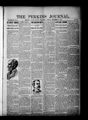 Primary view of object titled 'The Perkins Journal. (Perkins, Okla.), Vol. 16, No. 49, Ed. 1 Friday, December 6, 1907'.