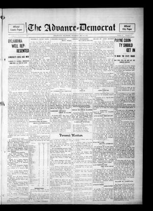 Primary view of object titled 'The Advance--Democrat (Stillwater, Okla.), Vol. 24, No. 38, Ed. 1 Thursday, May 18, 1916'.