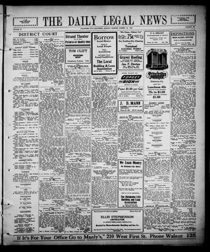 Primary view of object titled 'The Daily Legal News (Oklahoma City, Okla.), Vol. 12, No. 294, Ed. 1 Monday, August 14, 1916'.